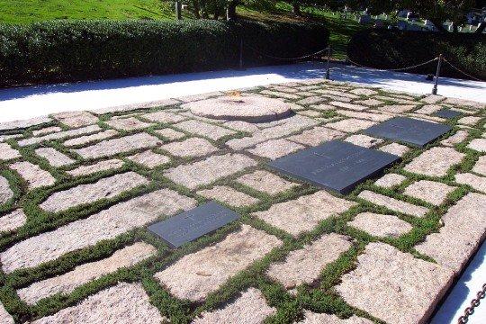 Gräber Von J F Kennedy Frau Tochter Arlington Friedhof